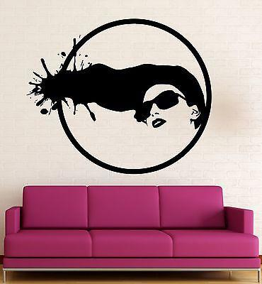 Wall Sticker Vinyl Decal Hot Sexy Girl Fashion Hair Stylist Salon Unique Gift (ig1841)