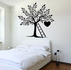 Wall Decal Tree Branch Nature Heart Ladder Romantic Vinyl Sticker Unique Gift (z3626)