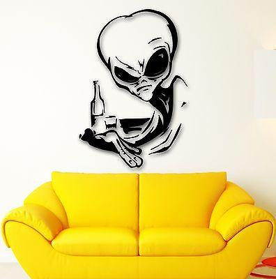 Wall Stickers Vinyl Decal Alien UFO Witty Decor Room (ig1778)
