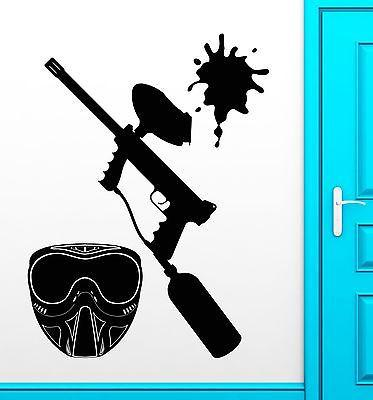 Wall Decal Paintball Fun Hobbies Entertainment Teen Room Vinyl Art Unique Gift (ig2533)