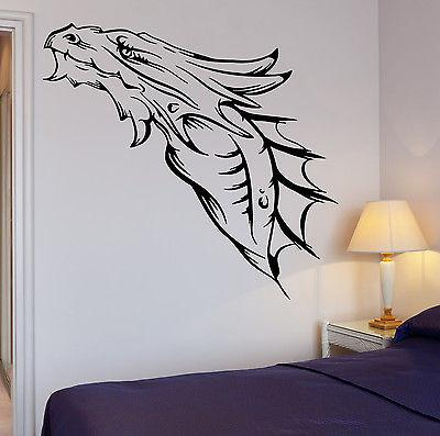 Wall Decal Cool Decor Dragon Medieval Fantasy Monster Cool Decor Unique Gift (z2690)