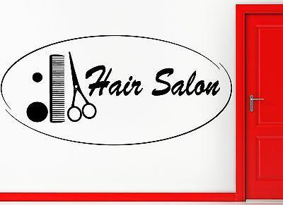 Wall Sticker Vinyl Decal Hair Salon Barbershop Beauty Hair Cool Decor Unique Gift (z2453)