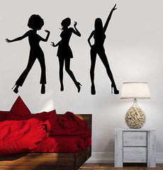 Wall Vinyl Music Sexy Disco Girl Guaranteed Quality Decal Unique Gift (z3500)