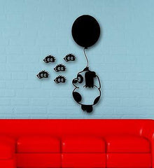 Wall Stickers Vinyl Decal Funny Bear with Balloons for Children's Room Unique Gift (ig587)