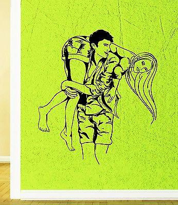 Wall Sticker Vinyl Decal Romantic Decor Couple in love Girl Guy Unique Gift (ig1950)