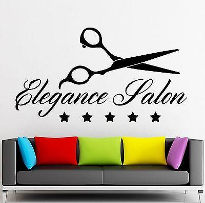 Wall Sticker Vinyl Decal Elegance Salon Beauty Spa Scissors Stylist Unique Gift (ig2034)