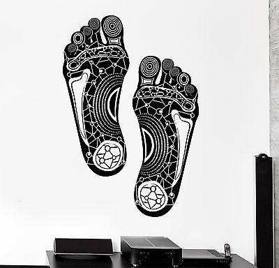 Wall Decal Steps Foot Legs Print Tribal Ornament Mural Vinyl Decal (z3164)