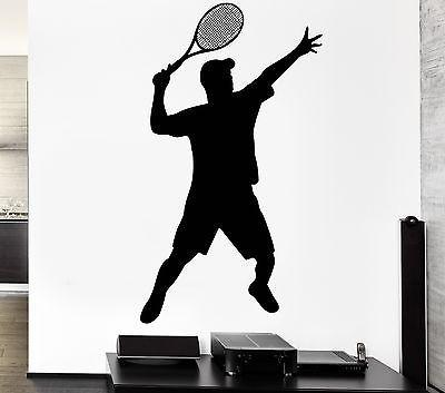 Wall Decal Tennis Sport Ball Court Racket Supply Game Vinyl Stickers Unique Gift (ed060)