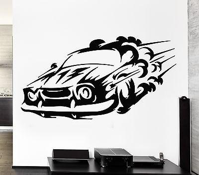Wall Decal Car Race Sport Speed Man Sticker For Living Room Unique Gift (z2774)