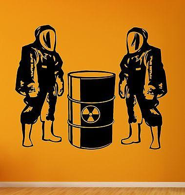 Wall Stickers Danger Nuclear Power Reactor Vinyl Decal (ig2398)