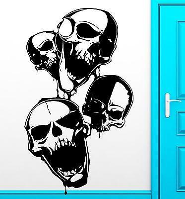 Wall Sticker Vinyl Decal Skull Scary Anarchy Freedom Cool Decor (z2479)