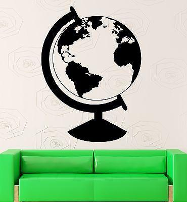 Wall Sticker Vinyl Decal Earth Globe Geography Travel Decor School Unique Gift (ig2180)