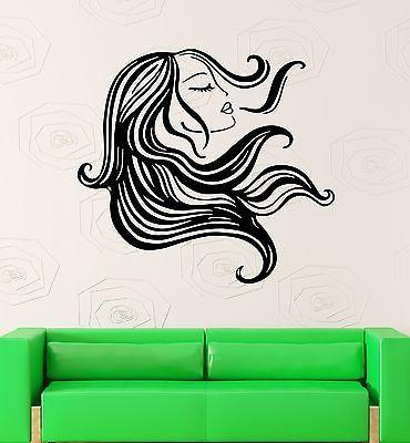 Wall Stickers Vinyl Decal Sexy Girl Woman Hair Beauty Salon Hairstyle Unique Gift (ig1705)