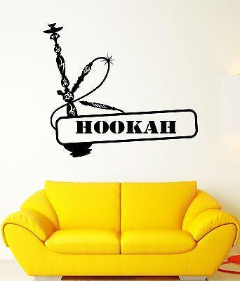 Wall Decal Hookah Smoke East Tobacco Relaxation Bong Vinyl Stickers Unique Gift (ed164)
