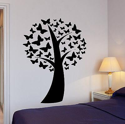 Wall Sticker Tree Nature Butterflies Cool Pop Art For Living Room Unique Gift (z2601)