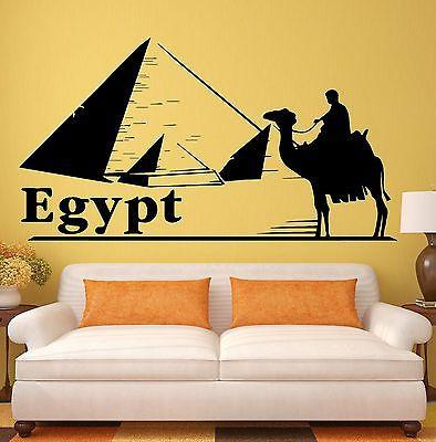 Wall Stickers Egypt Pyramids Tourism Travel Agency Desert Bedouin Decal Unique Gift (ig2493)