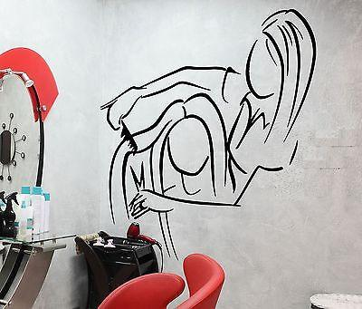 Wall Decal Barber Shop Barbershop Hair Salon Beauty Hairstyle Stickers Unique Gift (ig2596)