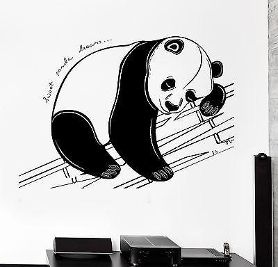 Wall Decal Animal Panda Sweet Dreams Cool Mural Vinyl Decal (z3162)