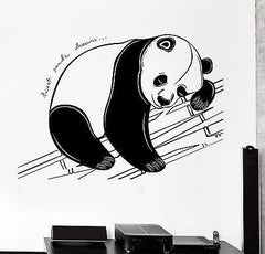 Wall Decal Animal Panda Sweet Dreams Cool Mural Vinyl Decal Unique Gift (z3162)