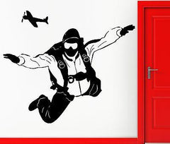 Vinyl Decal Paratrooper Parachutist Jumper Skydiving Decor Wall Stickers (z2273)