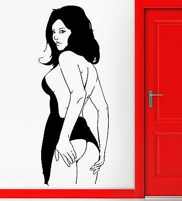 Wall Stickers Vinyl Decal Sexy Butt Ass Girl Nude Woman Decor For Man (z2322)