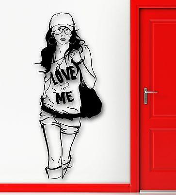 Wall Sticker Vinyl Decal Hot Sexy Girl Hipster Fashion Style Cool Decor Unique Gift (ig1833)