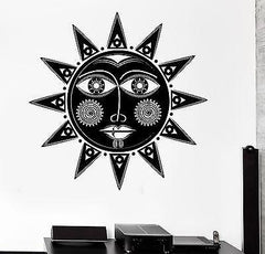Wall Decal Sun Tribal Ornament Cool Mural Vinyl Decal (z3150)