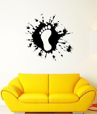 Wall Decal Trail Spray Leg Imprint Foot Fingers Mural Vinyl Stickers (ed063)