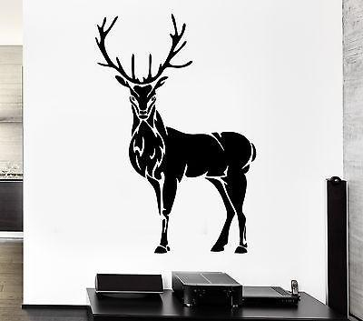 Wall Decal Deer Horn Elk Hunting Animal Forest Hooves Vinyl Stickers Unique Gift (ed234)