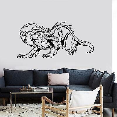 Wall Decal Dragon Myth Medieval Movie Fantasy Monster Cool Interior Unique Gift z2702