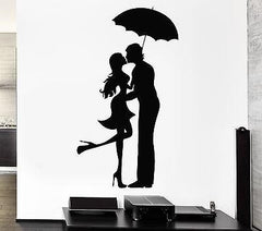 Decal Love Romantic Couple Umbrella Pop Art Cool Decor For Living Room Unique Gift (z2631)