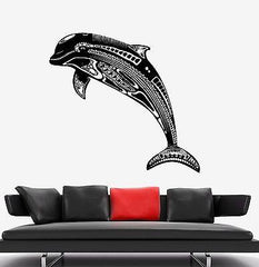 Wall Decal Dolphin Ocean See Marine Ornament Mural Vinyl Decal Unique Gift (z3175)