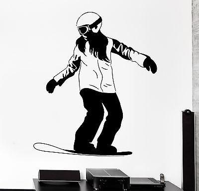 Wall Decal Snowboard Snowboarding Ski Winter Sport Vinyl Sticker Unique Gift (z3039)