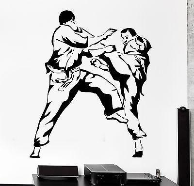 Wall Sticker Sport Karate Martial Arts Fighting Fighter Vinyl Decal Unique Gift (z3063)