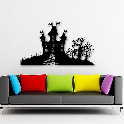 Wall Stickers Vinyl Decal Fairytale Halloween Witchcraft Castle for Kids Unique Gift (i928)