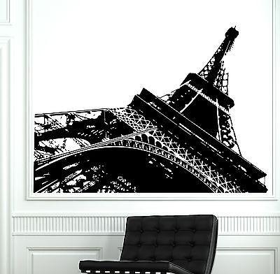 Wall Decal Paris Eiffel Tower Modern Abstract Vinyl Decal (z3119)