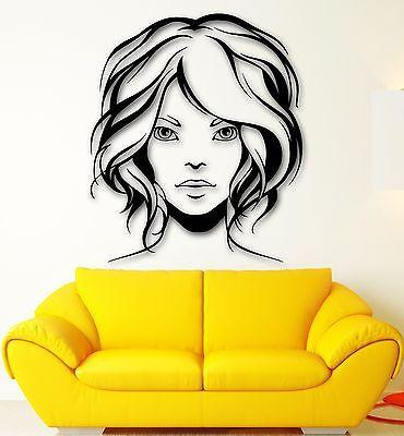 Wall Sticker Vinyl Decal Hot Sexy Girl Short Hair Hairstyle Barber Unique Gift (ig2093)