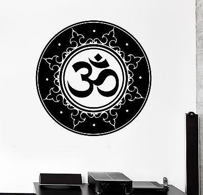 Wall Decal Buddha Om Ohm Mandala Amulet Talisman Vinyl Sticker Unique Gift (z2871)