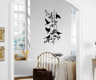 Wall Sticker Vinyl Decal Birds Branches Coolest Decor For Living Room Unique Gift (ig1185)