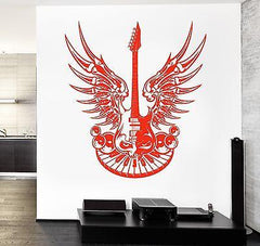 Wall Vinyl Guitar Heavy Music Eye Guaranteed Quality Decal (z3492)
