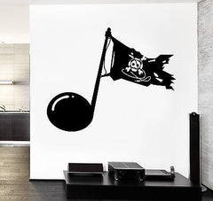 Wall Vinyl Music Pirates Download Guaranteed Quality Decal (z3493)