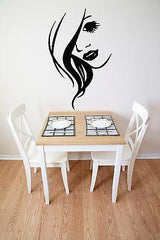 Wall Stickers Vinyl Decal Hot Sexy Girl Face Hair Beauty Salon Lips Wow Unique Gift (ig1716)