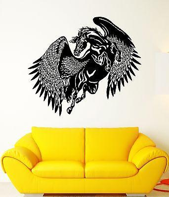Wall Decal Pegasus Horse Wings Flight Animal Mythology Vinyl Stickers Unique Gift (ed078)