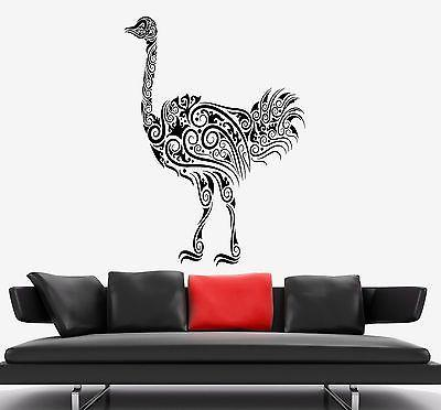 Wall Decal Ostrich Camel-Bird Ornament Tribal Mural Vinyl Decal Unique Gift (z3311)