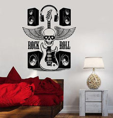 Wall Vinyl Music Rock Guitar Speakers Guaranteed Quality Decal (z3527)