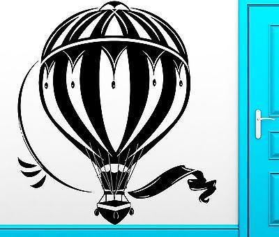 Wall Sticker Vinyl Decal Aerostat Air Balloon Dreem Freedom Cool Decor (z2486)