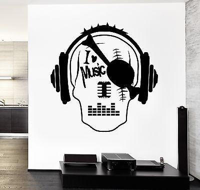 Wall Vinyl Music I Love Pirate Skull Guaranteed Quality Decal Unique Gift (z3538)