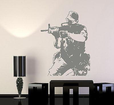 Wall Vinyl Soldier M16 Army Forces War Guaranteed Quality Decal Unique Gift (z3438)