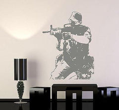 Wall Vinyl Soldier M16 Army Forces War Guaranteed Quality Decal (z3438)