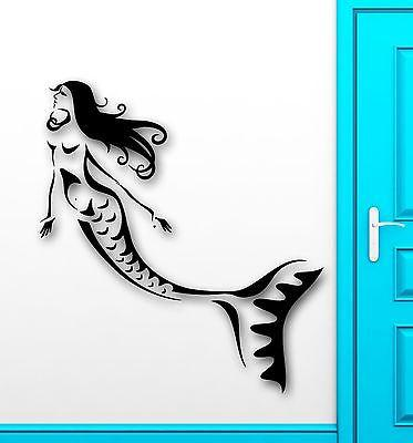 Wall Sticker Vinyl Decal Mermaid Marine Bathroom for Kids Baby Nursery Unique Gift (ig2055)